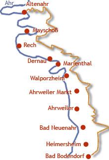 rotweinwanderweg karte Rotweinwanderweg   Wandern im Ahrtal
